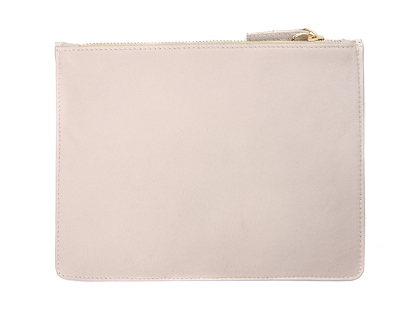 Lizzie Fortunato Cream Palm Zip Pouch