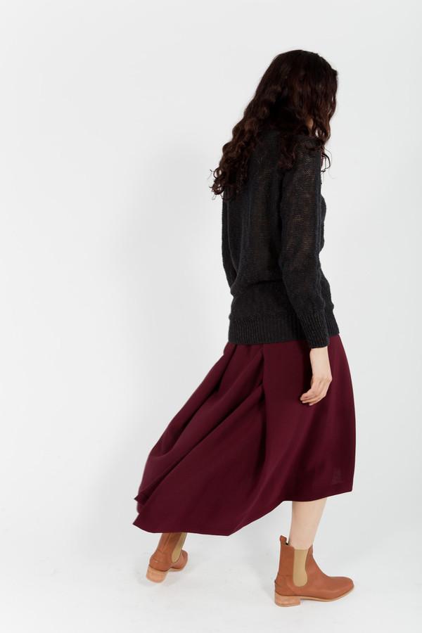 KAAREM Pleated Midi Skirt