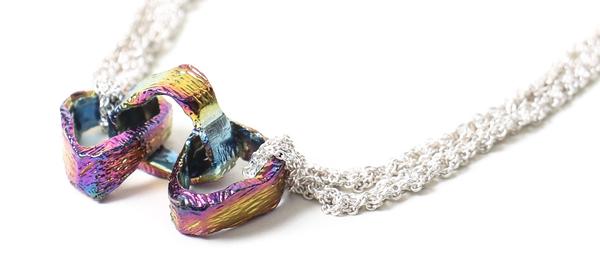 Arielle de Pinto Link Cluster Necklace - Silver + Spectrum
