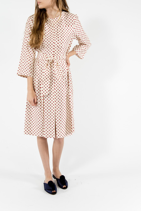 Trademark Polka Dot Silk Dress