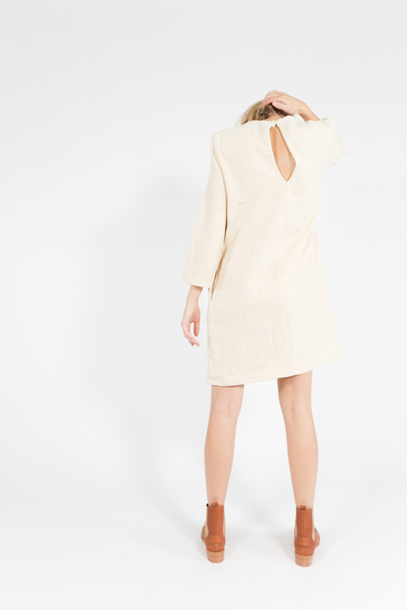 Han Starnes Slit Back Cotton Dress