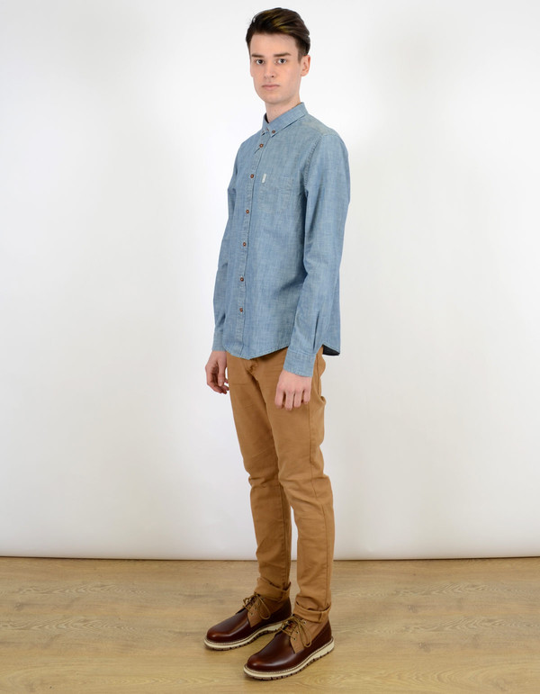 Ben Sherman Chambray Shirt Captain's Blue