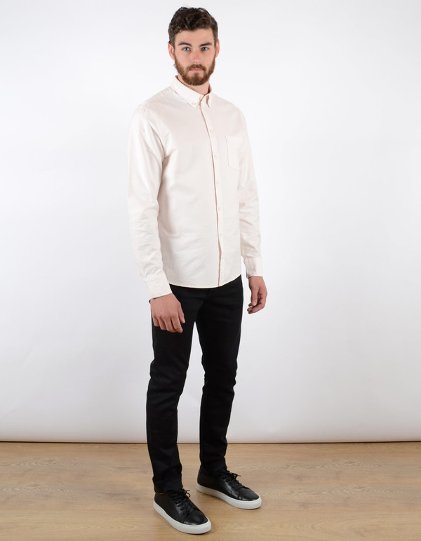 Filippa K Paul Oxford Shirt Bleached Pink Ivory