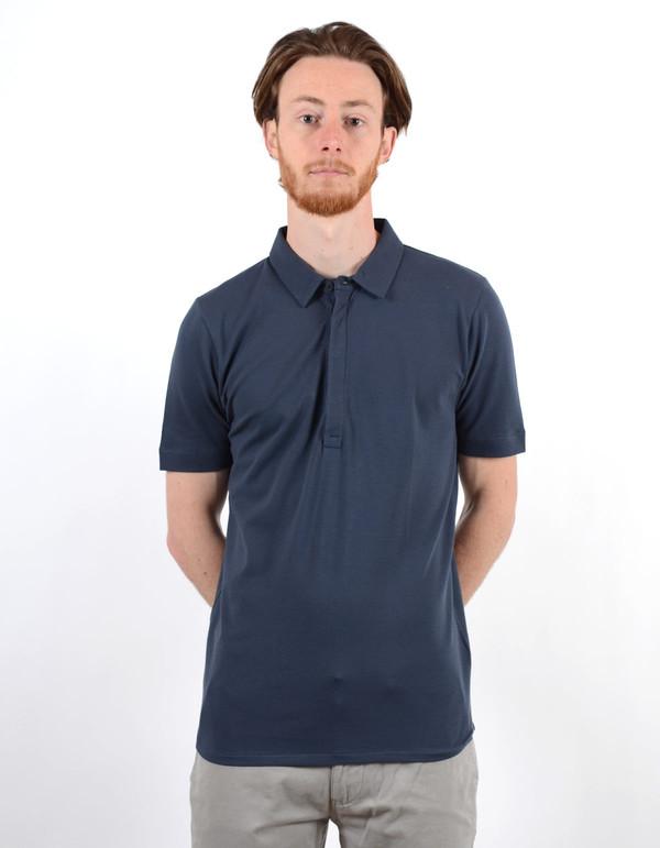 Filippa K Men's Pique SS Poloshirt Night Blue