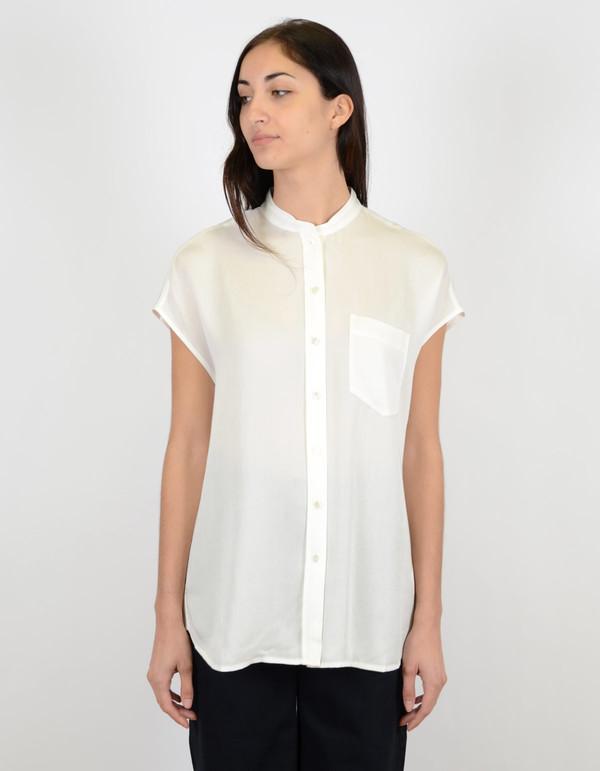 Filippa K Tencel Cap Sleeve Shirt Ginger