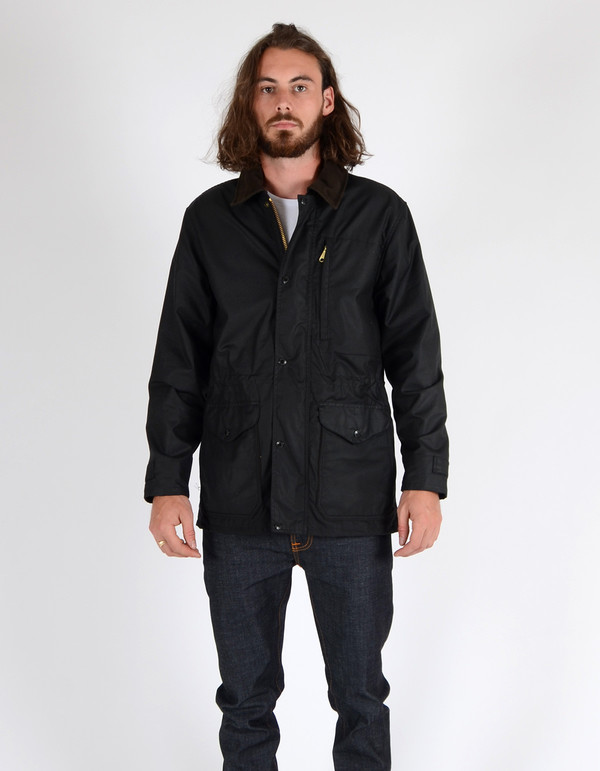 Men's Filson Cover Cloth Mile Marker Coat Black