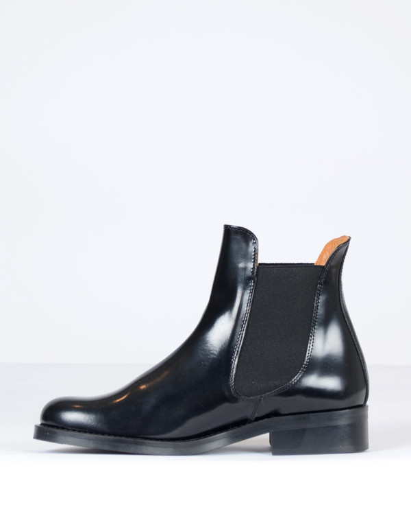 Ganni Sue Shine Ankle Boots Black