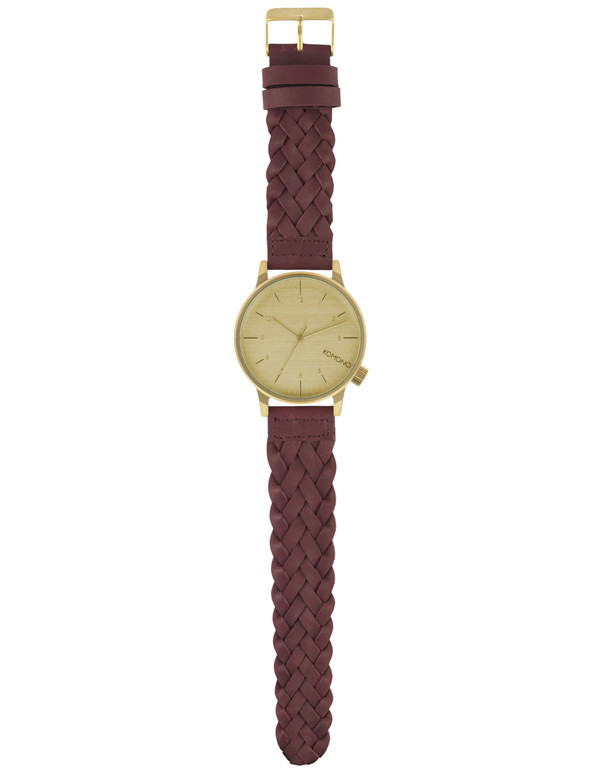 Komono Winston Woven Watch Burgundy