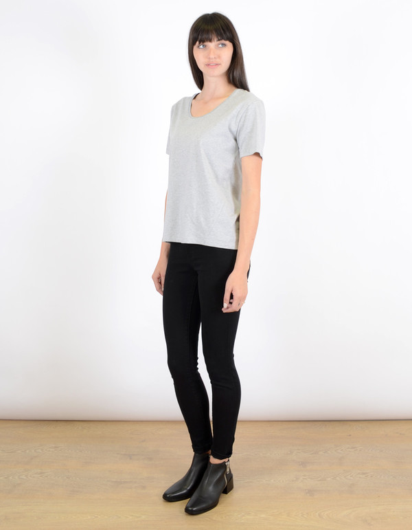 Kowtow Building Block Scoop Tee Grey Marle