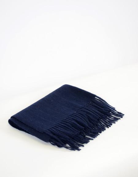 Minimum Gry Wool Scarf Winter Blue