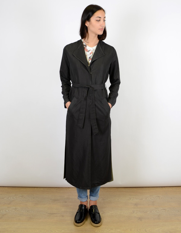 Minimum Katy Coat Smoke Black