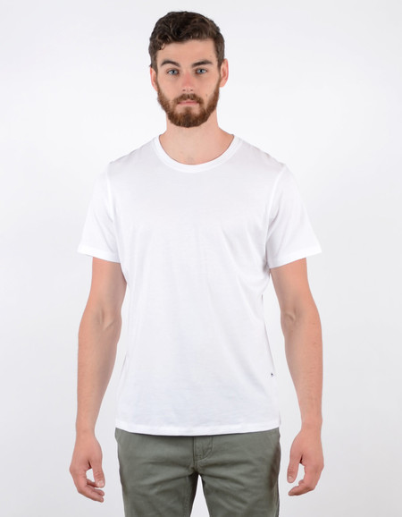 Men's No Nationality Pima Plain Tee White