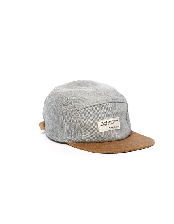 Nudie Monty Five Panel Recycled Cap Denim