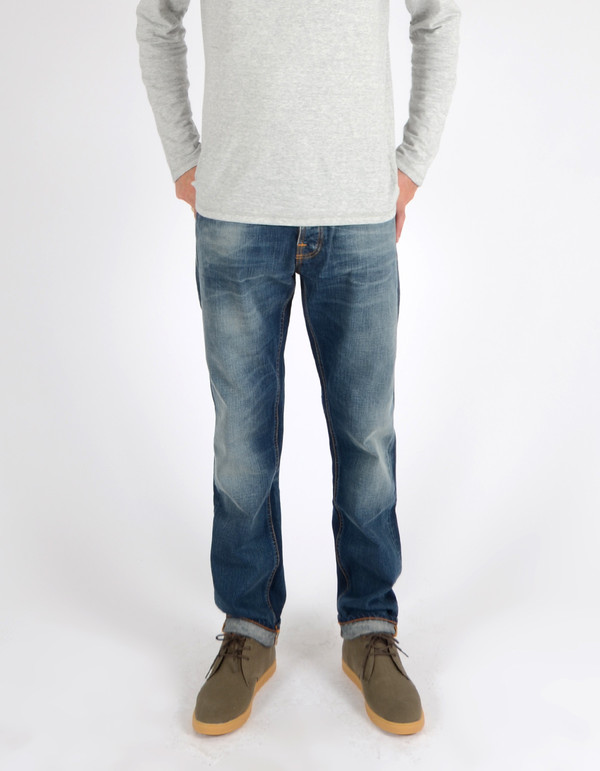 Men's Nudie Steady Eddie Organic Smokey Indigo