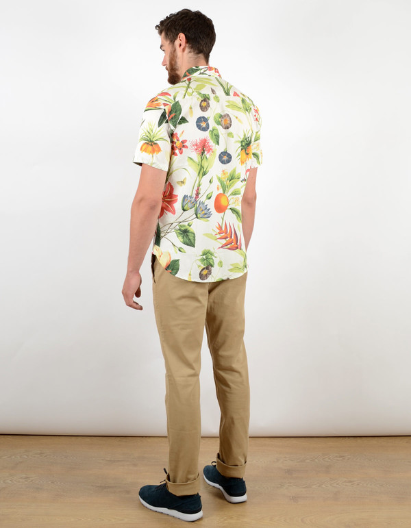 Men's Penfield Colima Botanical Shirt White
