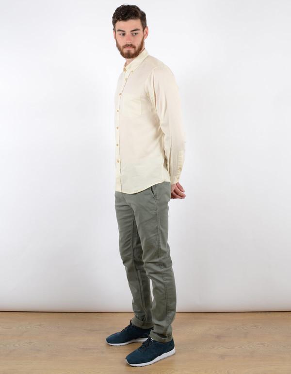 Men's Portuguese Flannel Casta Oxford Shirt White