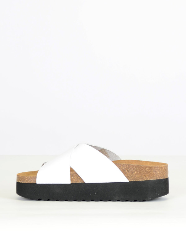 Shoe The Bear Aiko II Slide White