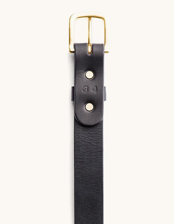 Men's Tanner Goods Classic Belt Black Brass