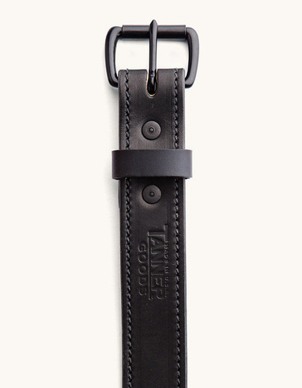 Men's Tanner Goods Heritage Belt Black Black