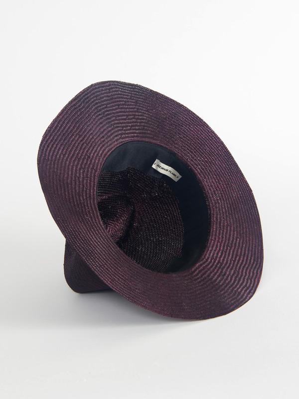 Laila Open Hat Aubergine
