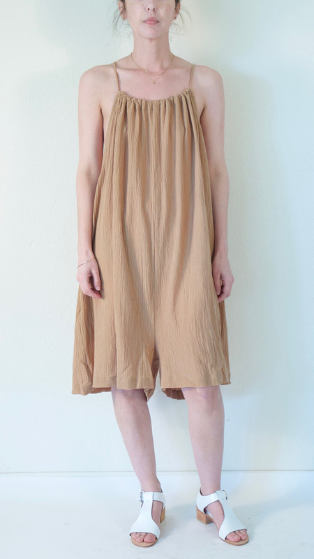 ARE Studio String Romper in Sand Gauze