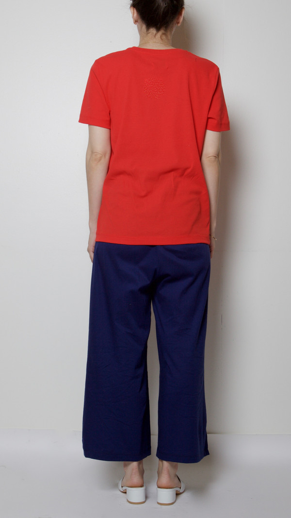 Maryam Nassir Zadeh Clara T-Shirt in Cherry Red