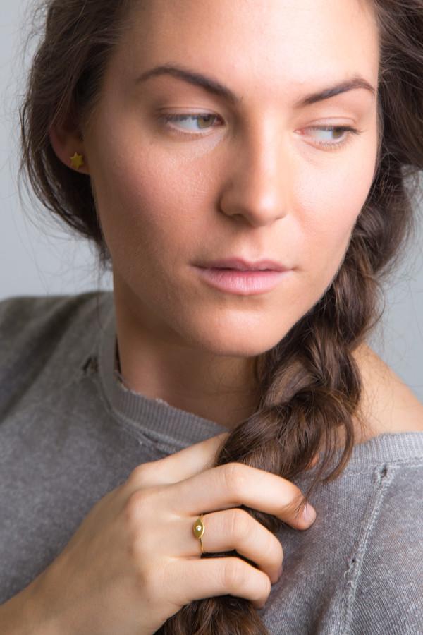 "Katrine Kristensen - ""Eye"" 24K Gold Ring With Diamond Eye"