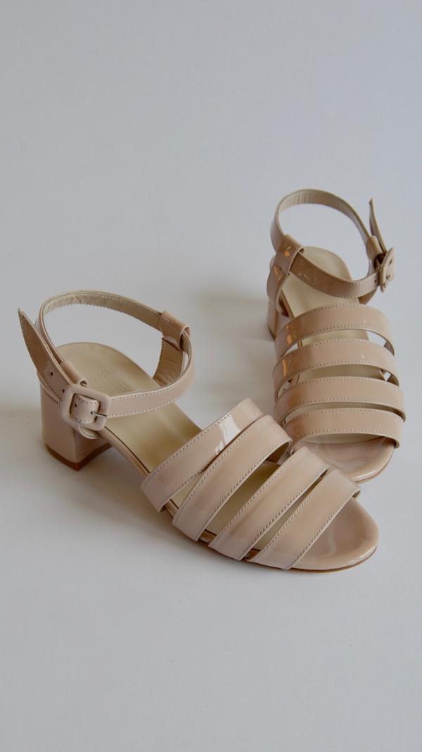 Maryam Nassir Zadeh Palma Low Sandal in Blush Patent