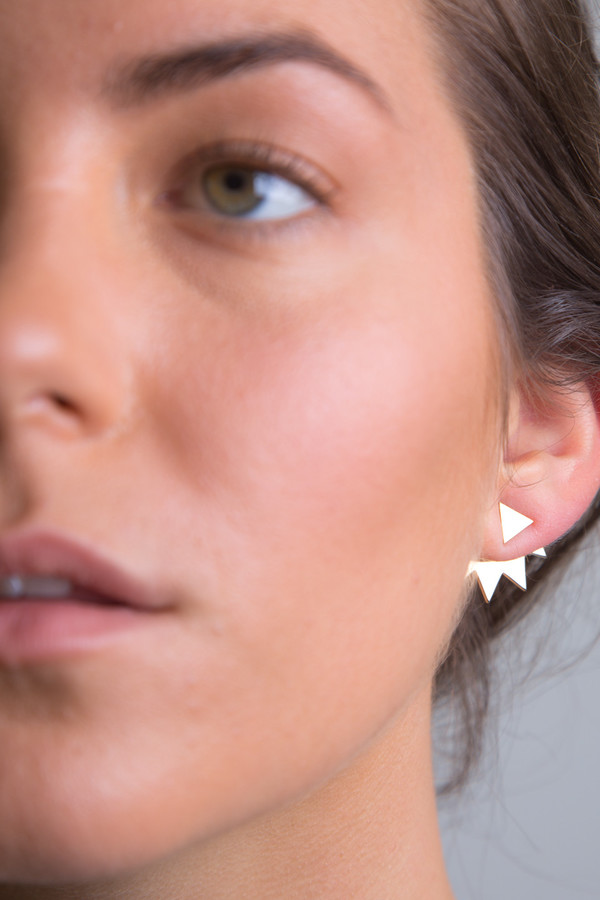 Katrine Kristensen - Gold Chainsaw Earring