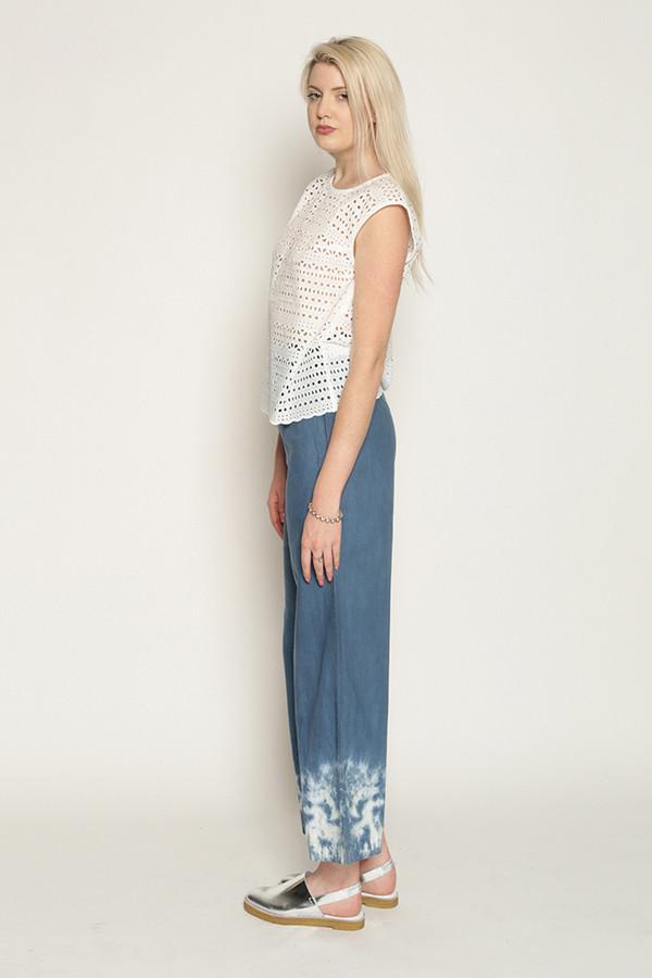 Eve Gravel Limoncello in Cream Cotton Lace