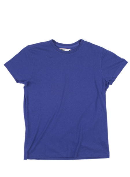 Men's MHL Margaret Howell Basic T-Shirt Cotton/Linen Jersey Indigo