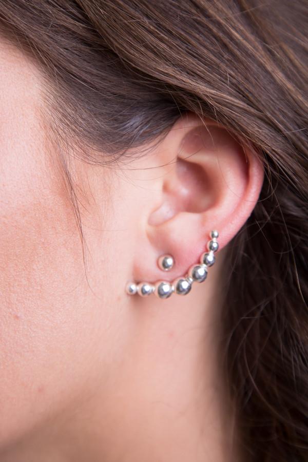 Katrine Kristensen - Large Bullet Silver Earring Single