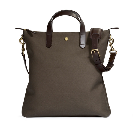 Army and Dark Brown MS Shopper by Mismo