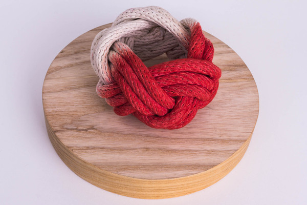 Tanya Aguiñiga - Knotted Rope Bracelet - Red