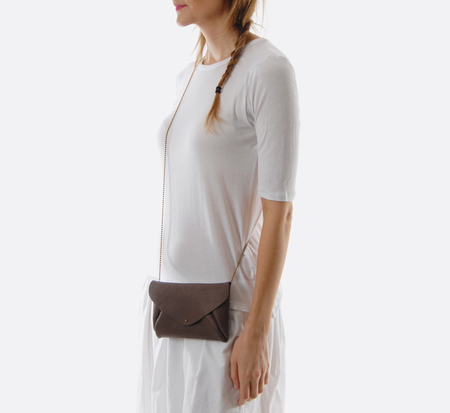 Mocha Envelope Bag  by Petite Maison Christiane