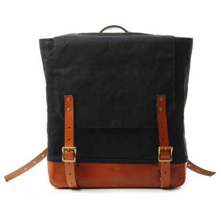 Southern Field Industries Black and Tan San Francisco Rucksack