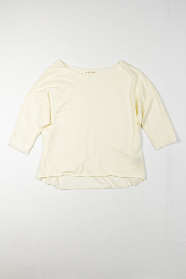 Wide Short Sleeve Cotton Tee