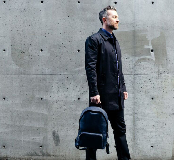 Lotuff Leather Indigo Zipper Backpack