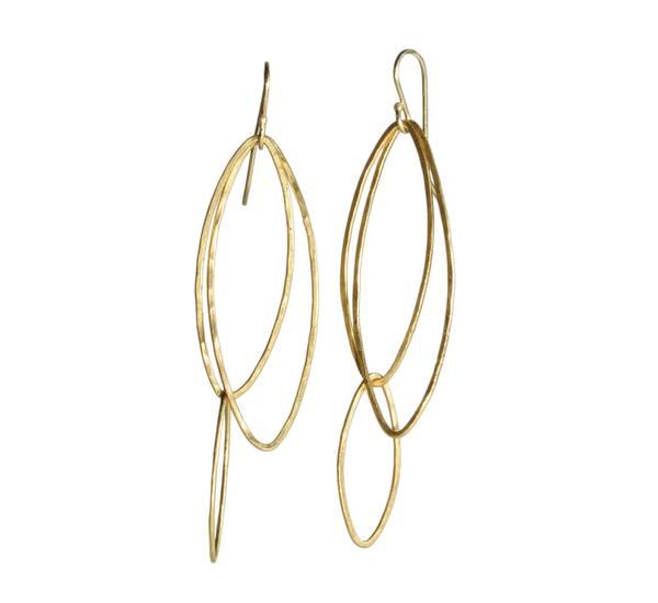 Rosanne Pugliese 22K Gold Orchid Leaf Earring