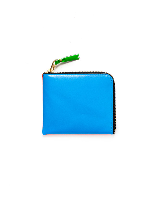 Comme des Garcons Super Fluo 3/4 Zip Wallet - Blue/Orange