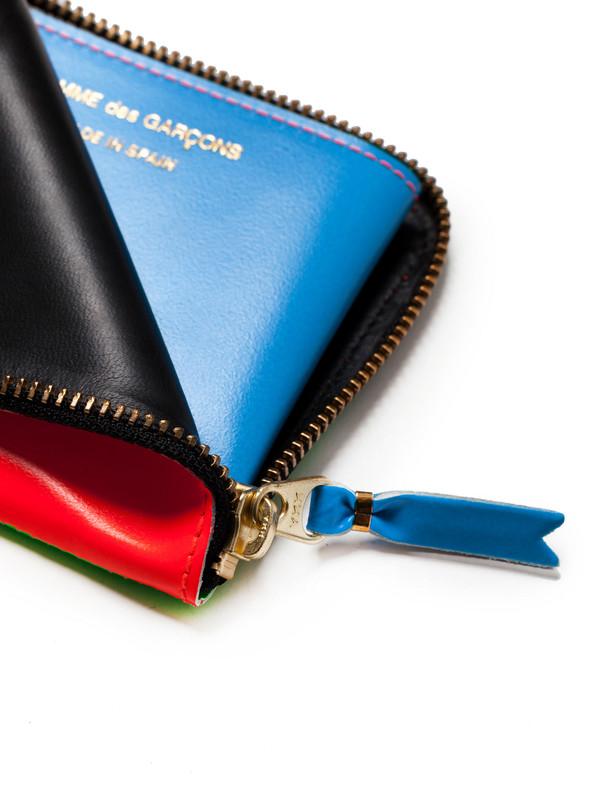 Super Fluo 3/4 Zip Wallet - Orange/Green