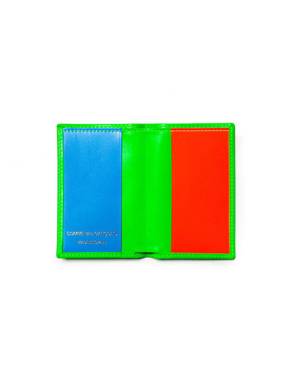 Comme des Garcons Super Fluo Card Wallet - Green