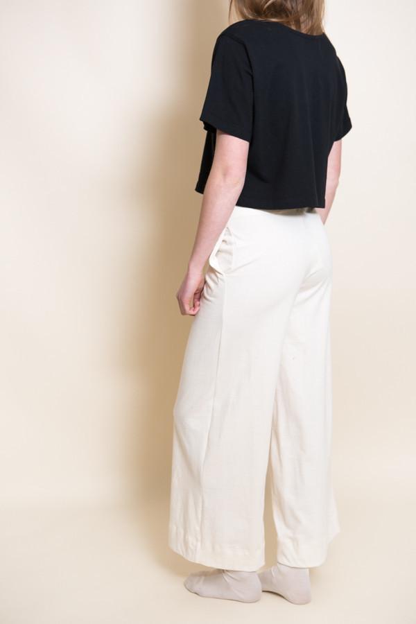 Pansy Drawstring Pants / Natural