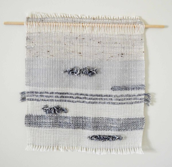 Ana Isabel Textiles Silver Gray Weaving