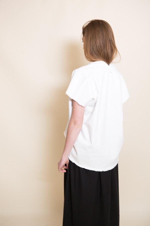 Miranda Bennett Everyday Cropped Top / White Denim