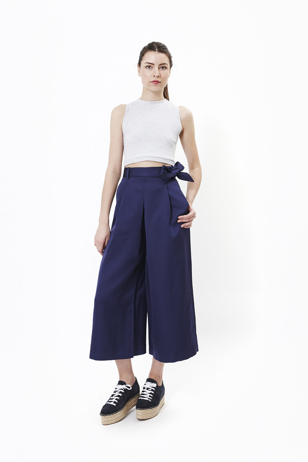 Nanushka Toho Hakama Pants in Navy