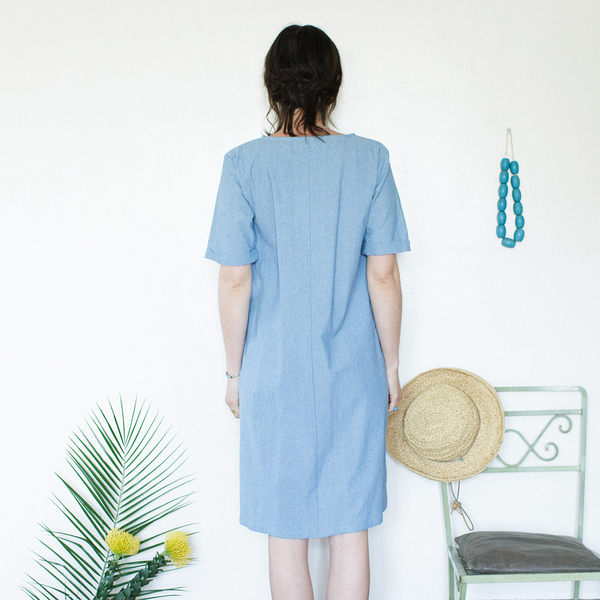 Me & Arrow Tall Dress - Lt. Indigo Chambray