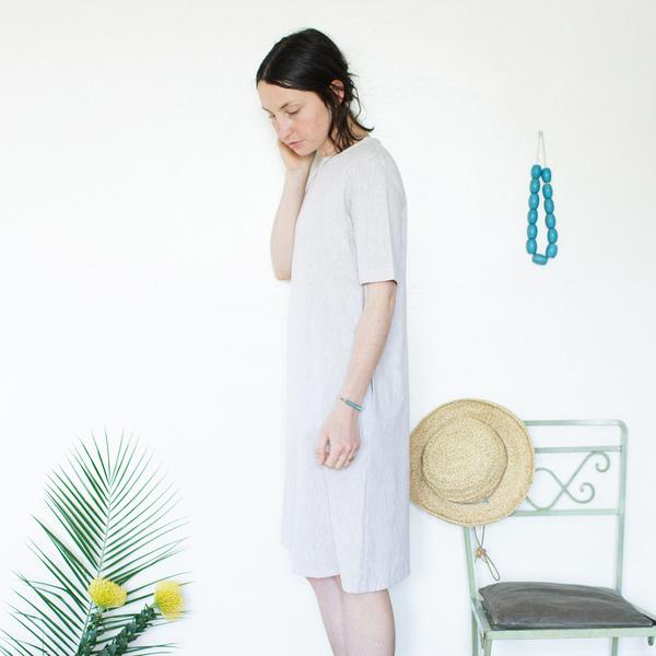 Me & Arrow Tall Dress - Sand Stripe