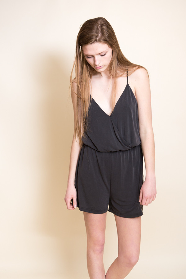 Just Female Pen Playsuit / Anthracite