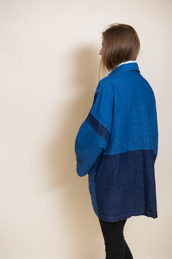 Atelier Delphine Haori Coat / Indigo Patchworked